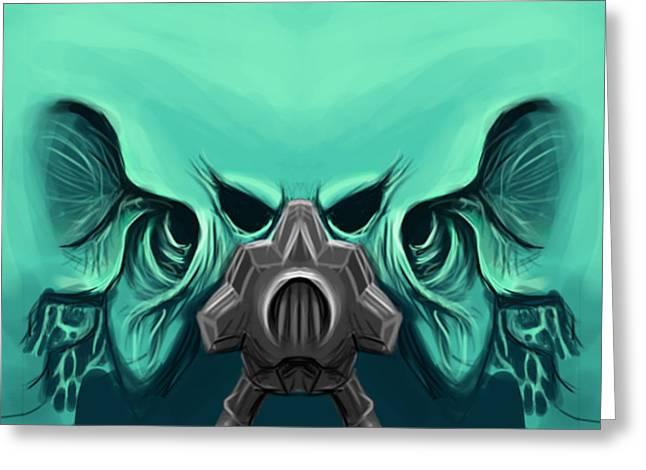 Toxic Demon Greeting Card