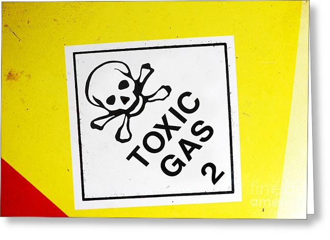 Toxic Gas Greeting Card by Jorgo Photography - Wall Art Gallery