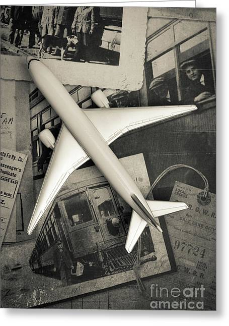 Toy Airplane Vintage Travel Greeting Card by Edward Fielding