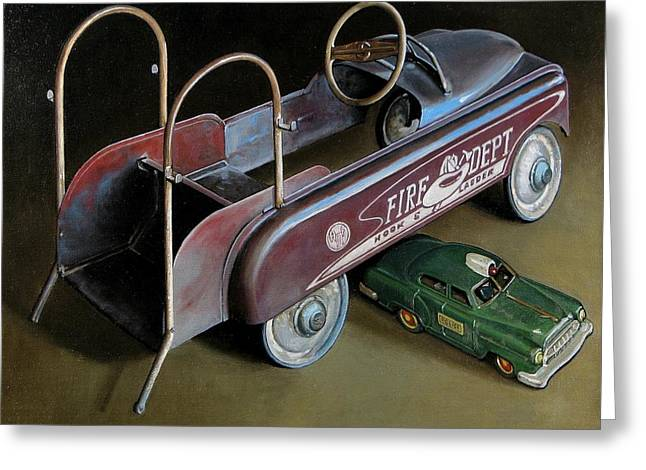 Toy Crossroads Greeting Card by Doug Strickland