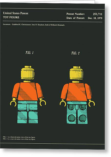 Toy Figure Patent 1979 Greeting Card