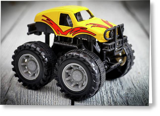 Toy Monster Truck Greeting Card by Donald Erickson