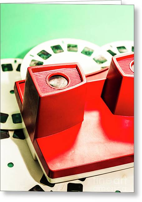 Toy Photo Film Viewer  Greeting Card by Jorgo Photography - Wall Art Gallery