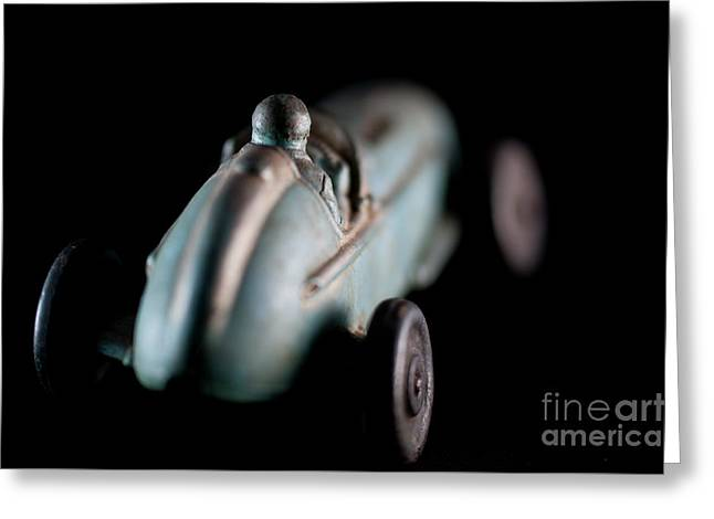 Greeting Card featuring the photograph Toy Race Car by Wilma Birdwell