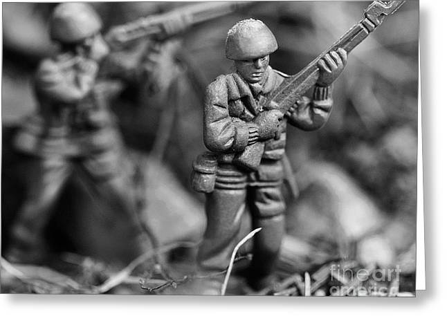 Toy Soldiers Greeting Card by Randy Steele