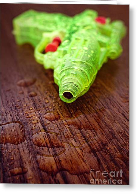 Toy Water Pistol Greeting Card