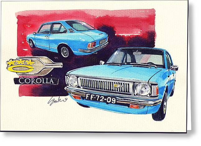 Toyota Corolla Deluxe Greeting Card