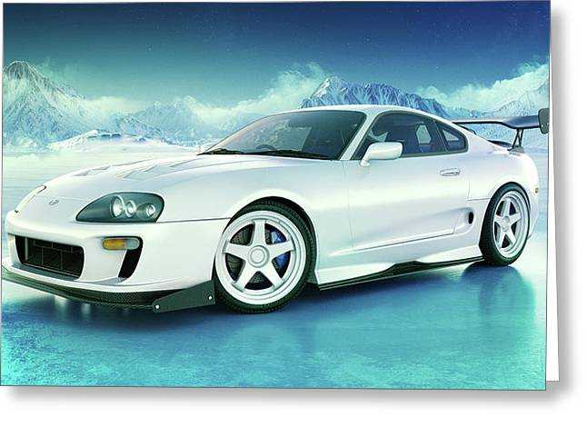 Toyota Supra Mkiv Greeting Card