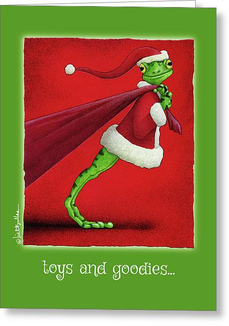Greeting Card featuring the painting Toys And Goodies... by Will Bullas