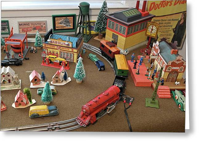 Toytown - Train Set Overview Greeting Card