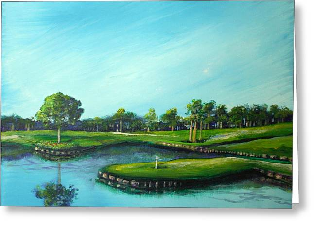 Tpc 17th Hole 2010 Greeting Card by Michele Hollister - for Nancy Asbell