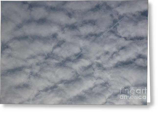 Trace Of Airplane Greeting Card by Jean Bernard Roussilhe