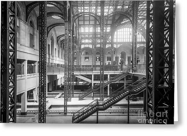 Track Level And Concourses Pennsylvania Station New York Greeting Card