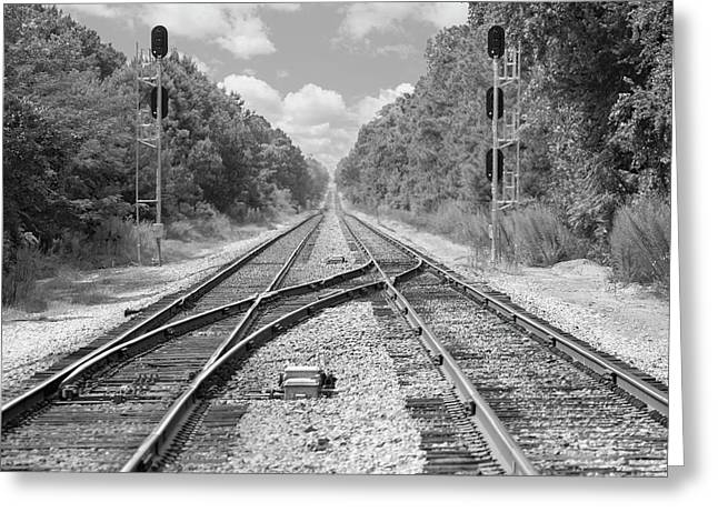 Greeting Card featuring the photograph Tracks 2 by Mike McGlothlen