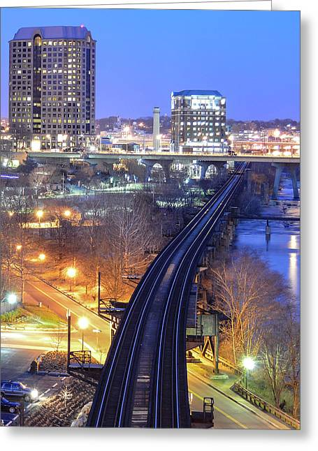 Tracks Into The City Color Greeting Card