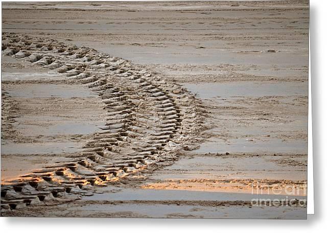 Tractor Tracks Greeting Card by Jason Freedman