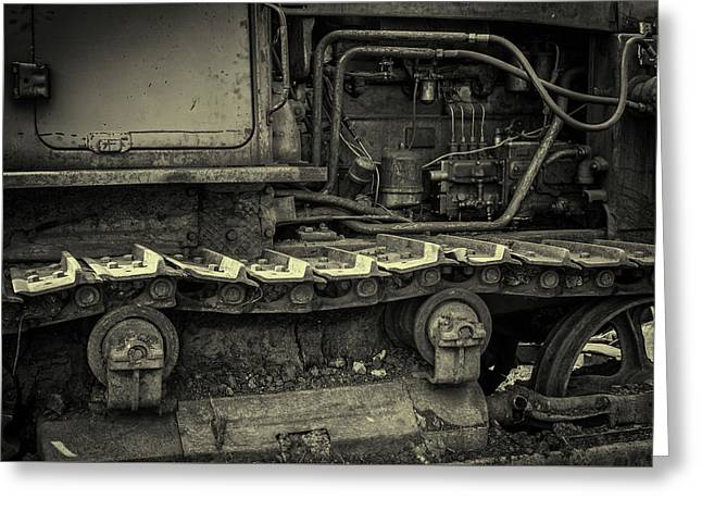 Tracks Of The Warped Earth Mover Greeting Card by John Williams