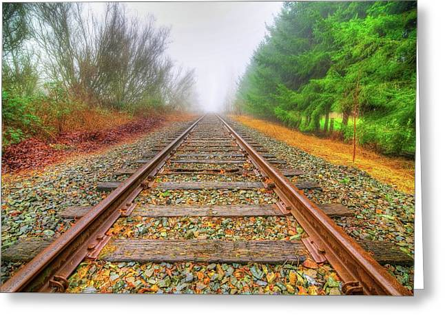 Tracks Through My Heart Greeting Card by Spencer McDonald