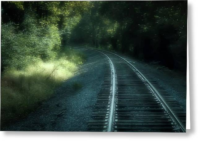 Tracks Through Time Greeting Card