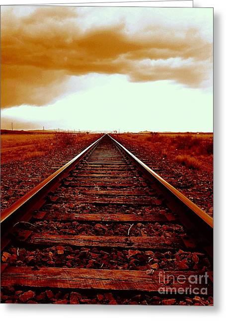 Marfa Texas America Southwest Tracks To California Greeting Card