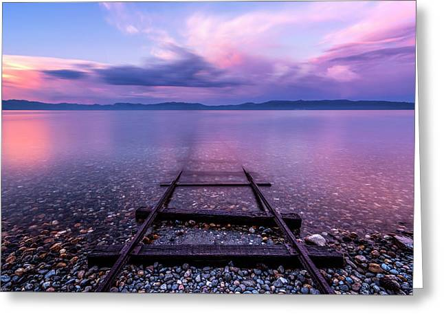Greeting Card featuring the photograph Tracks To Tahoe by Brad Scott