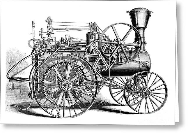 Traction Engine, 1886 Greeting Card by Granger