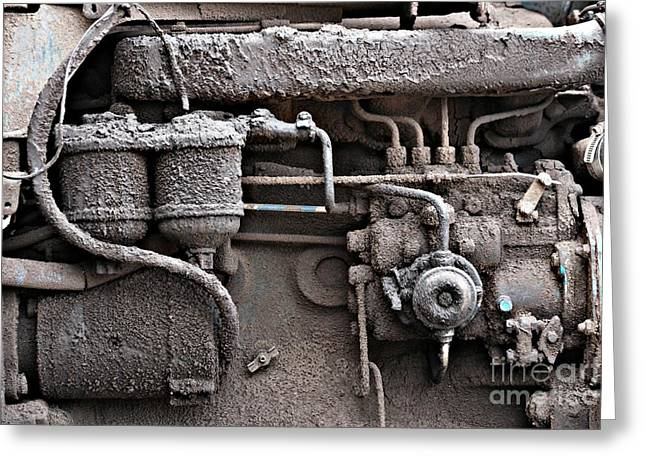 Greeting Card featuring the photograph Tractor Engine II by Stephen Mitchell