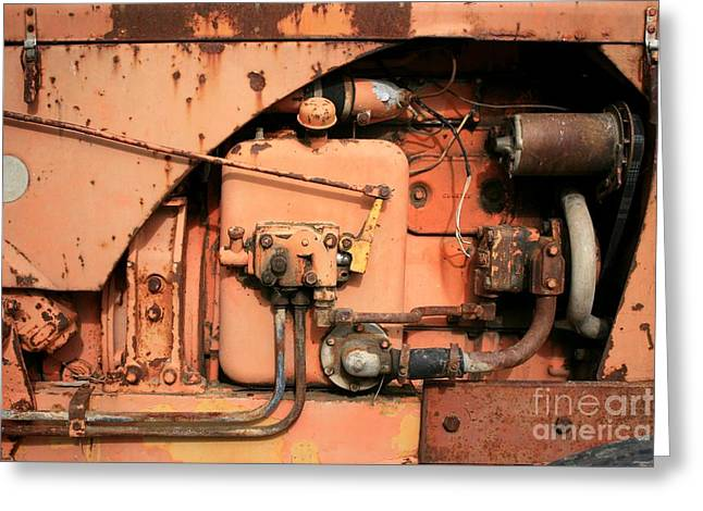 Tractor Engine V Greeting Card by Stephen Mitchell