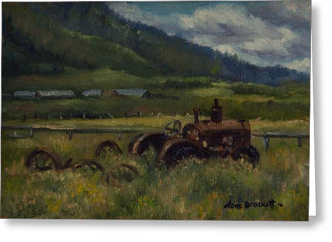 Tractor From Swan Valley Greeting Card
