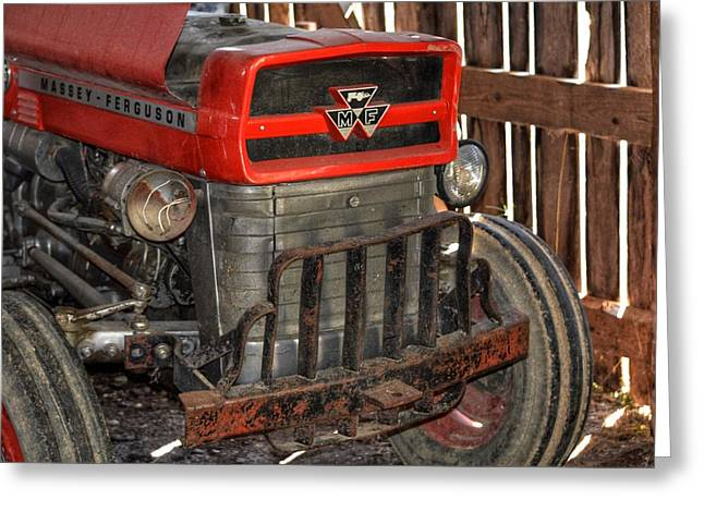 Tractor Grill  Greeting Card