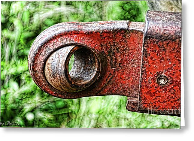 Tractor Parts, Ball Joint, Gritty Greeting Card