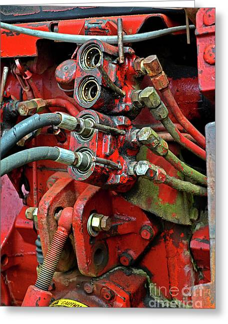 Tractor Parts, Hydraulics Greeting Card