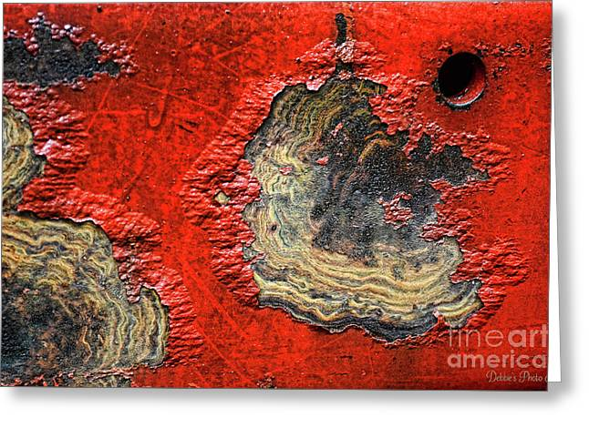 Tractor Parts, Paint Decay, Gritty Greeting Card