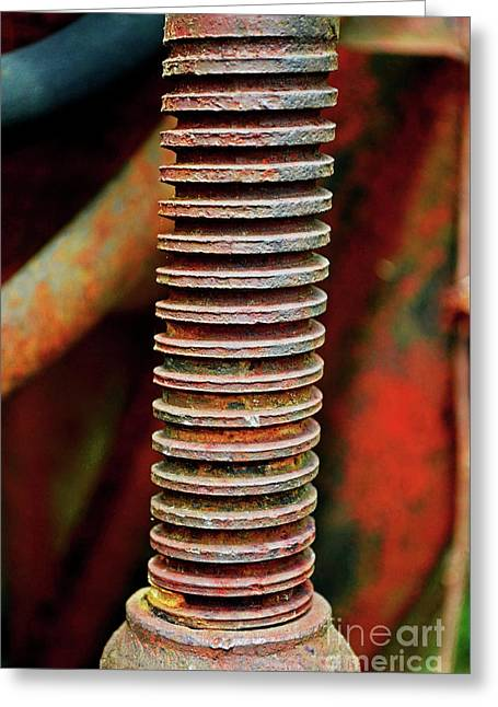 Tractor Parts, Screw Greeting Card