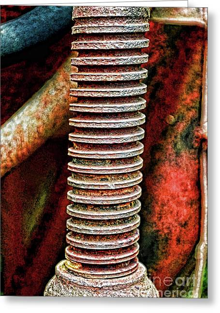 Tractor Parts, Screw, Gritty Greeting Card