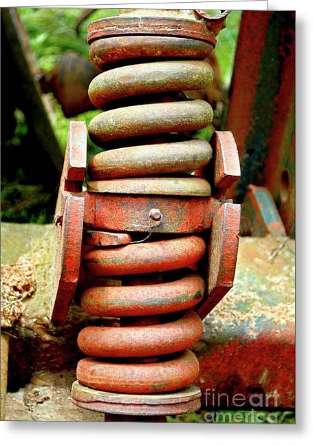 Tractor Parts, Spring Greeting Card