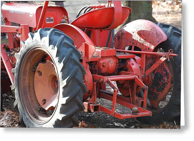 Tractor Greeting Card by Peter  McIntosh
