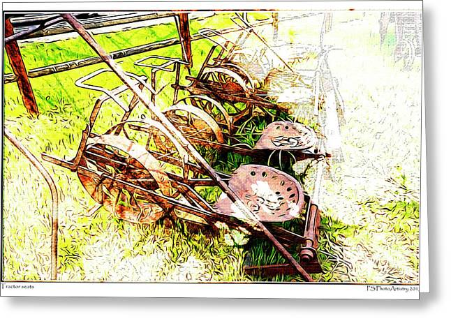 Tractor Seats Greeting Card