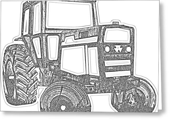 Tractor Transparent Greeting Card