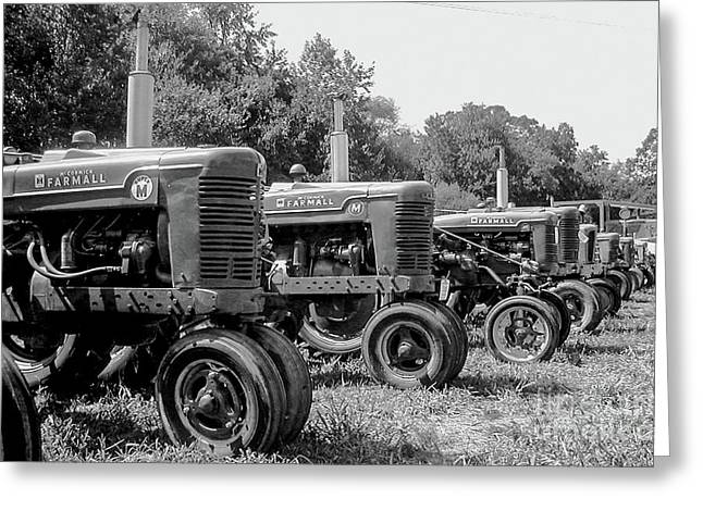 Greeting Card featuring the photograph Tractors by Brian Jones