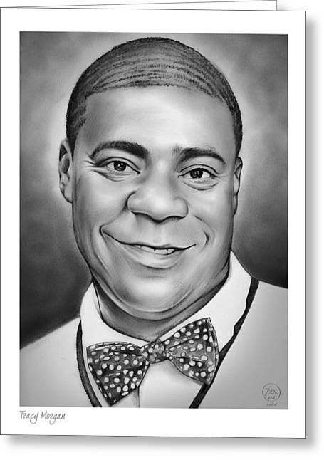 Tracy Morgan Greeting Card by Greg Joens