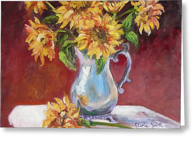 Tracy's Sunflowers Greeting Card