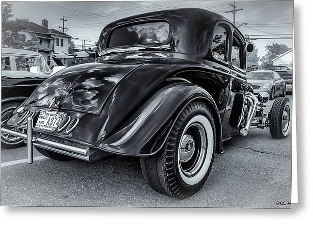 Tradional Hot Rod Greeting Card by Ken Morris