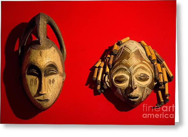 Traditional African Masks Greeting Card