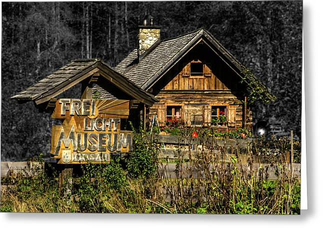 Traditional Austrian Wooden House Greeting Card