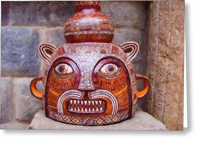 Traditional Ceramic Pot  Greeting Card
