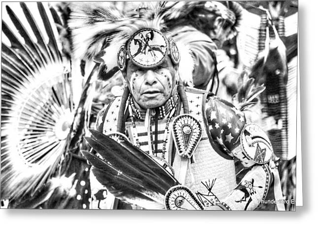 Traditional Dancer  Greeting Card by Clarice Lakota