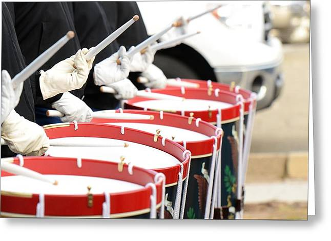 Traditional Drums Greeting Card by Billy Soden
