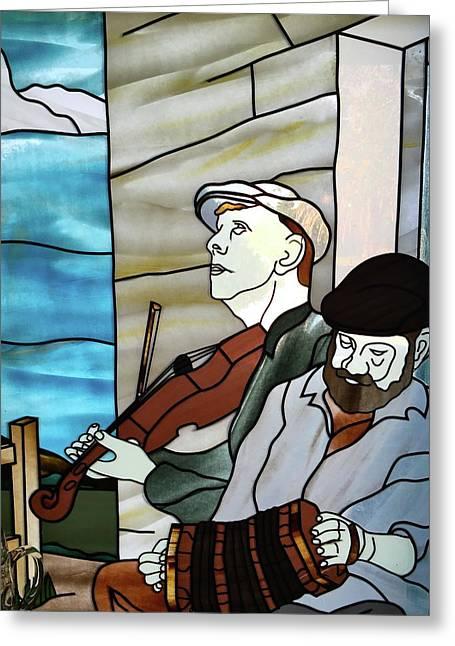 Traditional Folk Music Greeting Card by Denise Mazzocco