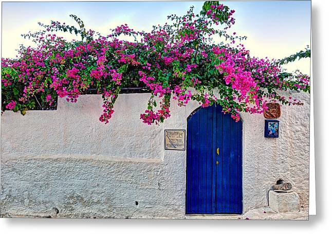 Traditional House At Metochi In Agistri Island - Greece Greeting Card
